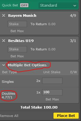 Doubles Betting Explained